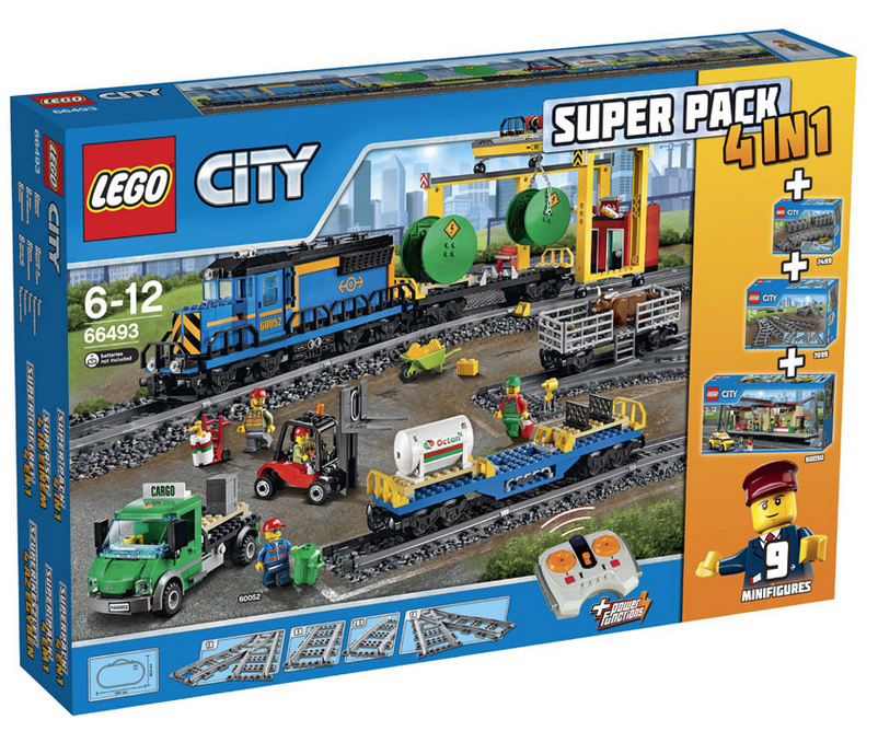 lego city trein value pack 4 in 1 city 66493 kopen online prijzen vergelijken. Black Bedroom Furniture Sets. Home Design Ideas