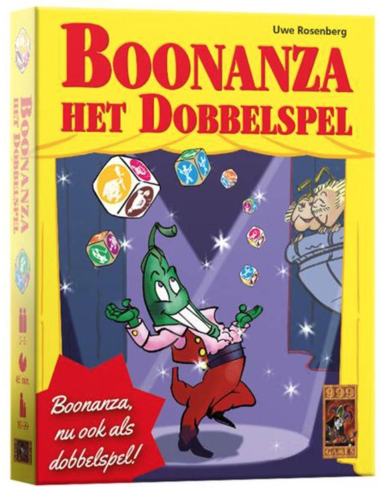 Boxart van Boonanza: Het Dobbelspel (Bordspellen), 999 Games