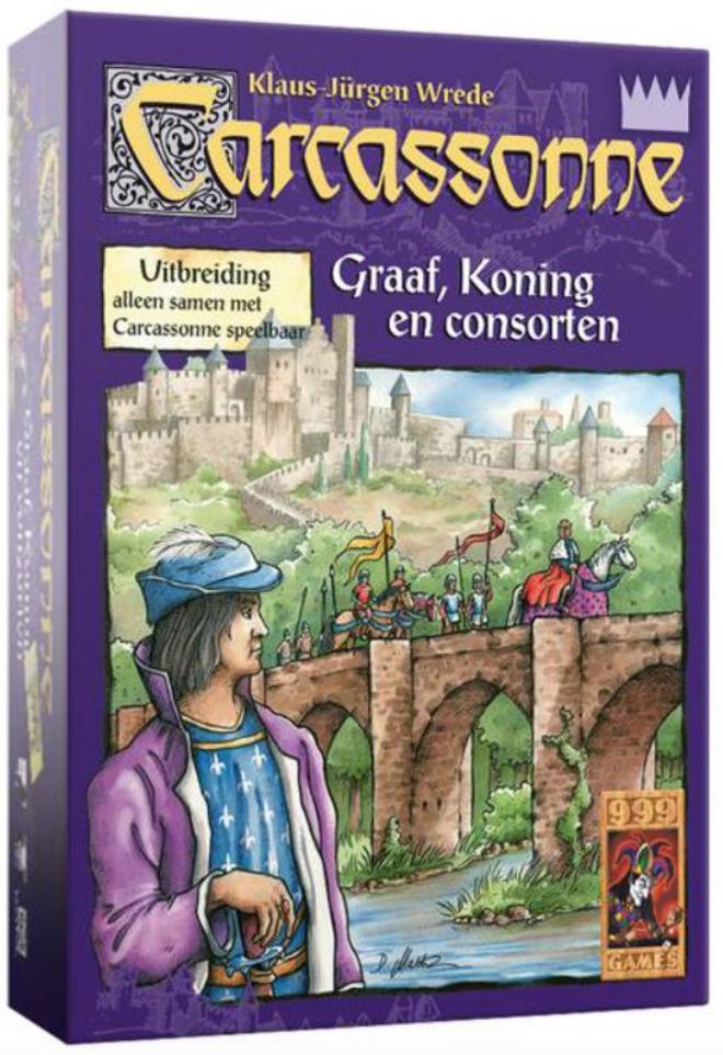 Carcassonne: Uitbreiding Graaf, Koning en Consorten (Bordspellen), 999 Games
