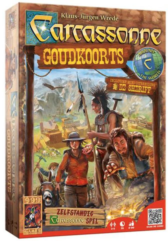 Boxart van Carcassonne: Goudkoorts (Bordspellen), 999 Games