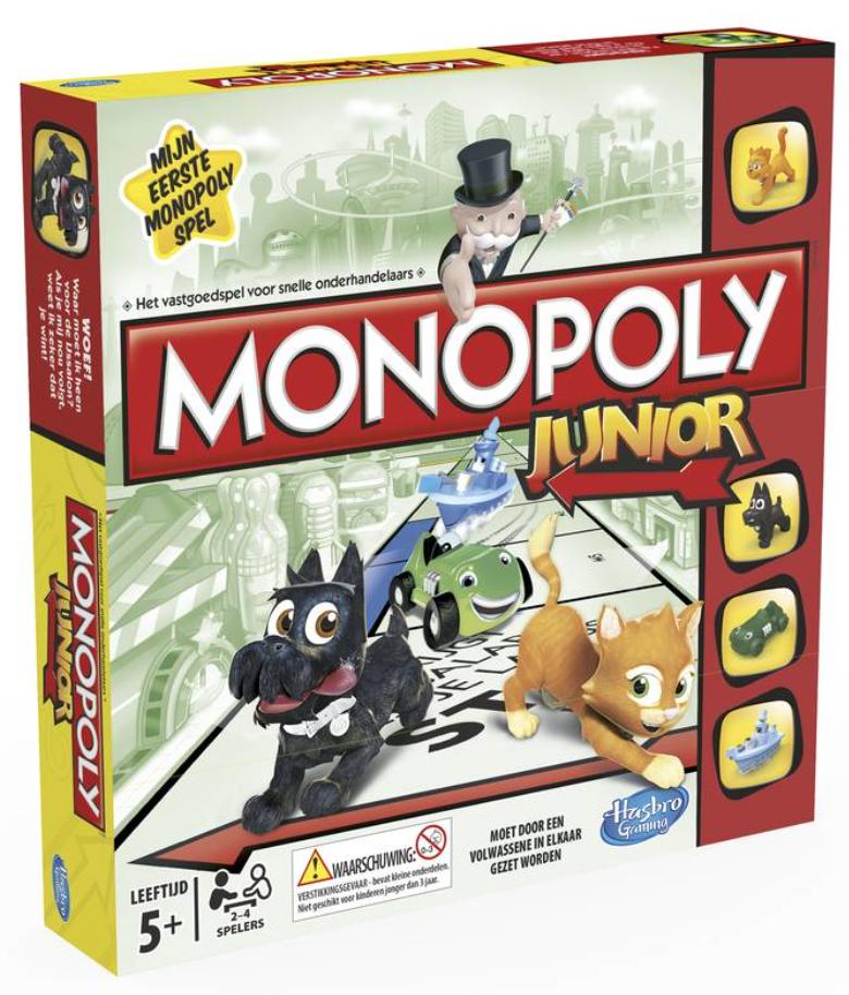 Boxart van Monopoly Junior (Bordspellen), Hasbro Games