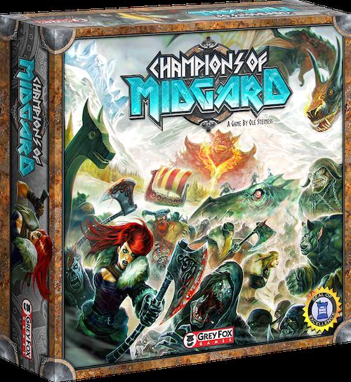 Boxart van Champions of Midgard (Bordspellen), Grey Fox Games