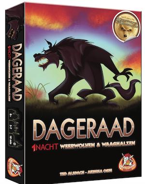 Boxart van 1 Nacht Weerwolven & Waaghalzen Uitbreiding: Dageraad (Bordspellen), White Goblin Games