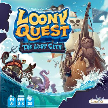 Boxart van Loony Quest Uitbreiding: The Lost City (Bordspellen), Libellud