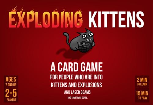 Boxart van Exploding Kittens (Bordspellen), Exploding Kittens