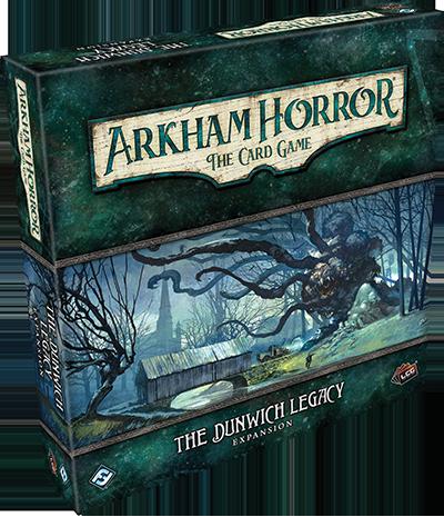 Boxart van Arkham Horror TCG Uitbreiding: Dunwich Legacy (Bordspellen), Fantasy Flight Games