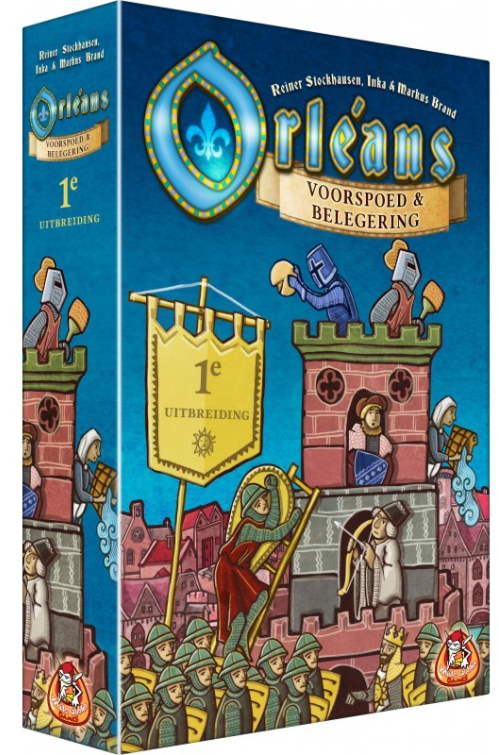 Boxart van Orleans Uitbreiding: Voorspoed en Belegering (Bordspellen), White Goblin Games