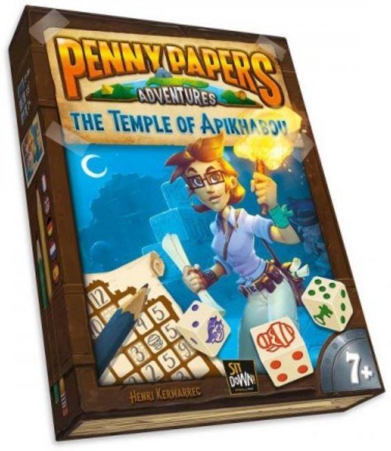 Boxart van Penny Papers Adventures - The Temple of Apikhabou (Bordspellen), Sit Down!