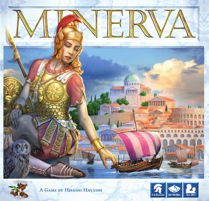 Boxart van Minerva (Bordspellen), Pandasaurus Games