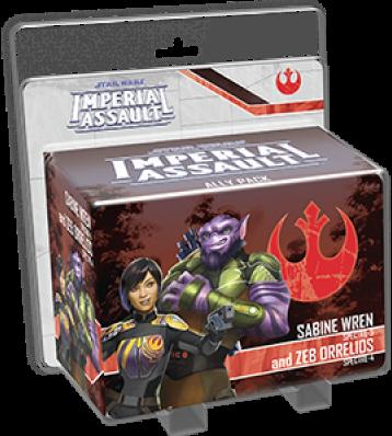 Boxart van Star Wars Imperial Assault Uitbreiding: Ally Pack Sabine Wren & Zeb Orrelios (Bordspellen), Fantasy Flight Games