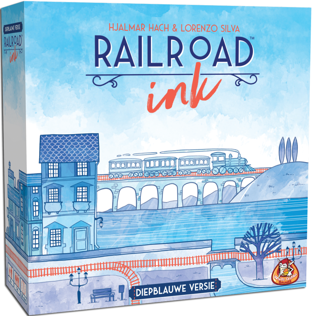 Boxart van Railroad Ink: Diepblauwe Versie (Bordspellen), White Goblin Games