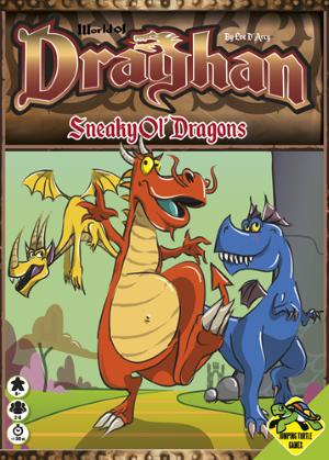 Boxart van World of Draghan: Sneaky Ol' Dragons (Bordspellen), Jumping Turtle Games