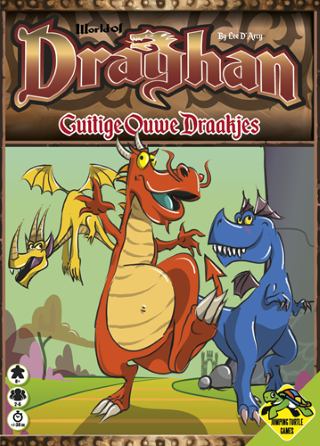 Boxart van World of Draghan: Guitige Ouwe Draakjes (Bordspellen), Jumping Turtle Games