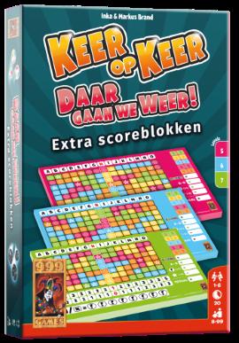 Keer op Keer Daar Gaan We Weer Scoreblok (Bordspellen), 999 Games
