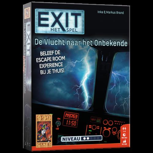 Boxart van Exit: De Vlucht Naar Het Onbekende (Bordspellen), 999 Games
