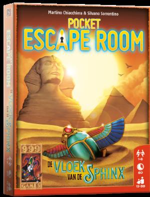 Boxart van Pocket Escape Room: De Vloek van de Sphinx (Bordspellen), 999 Games