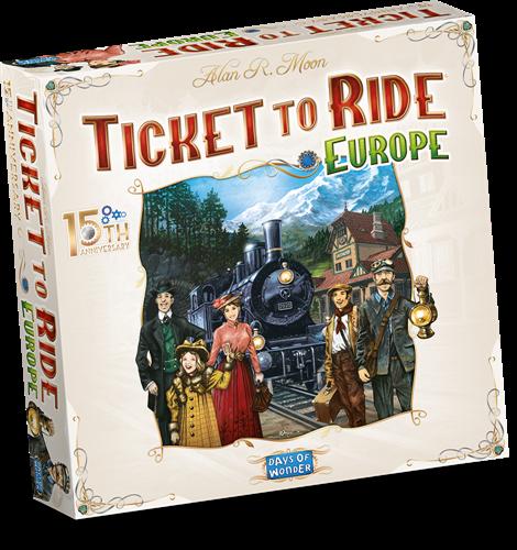 Ticket to Ride Europe 15th Anniversary (ENG) (Bordspellen), Days of Wonder